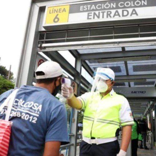 linea-6-transmetro-reinicia-operacion-reactivacion-ciudad-guatemala-uso-mascarilla-toma-temperatura-distanciamiento-social