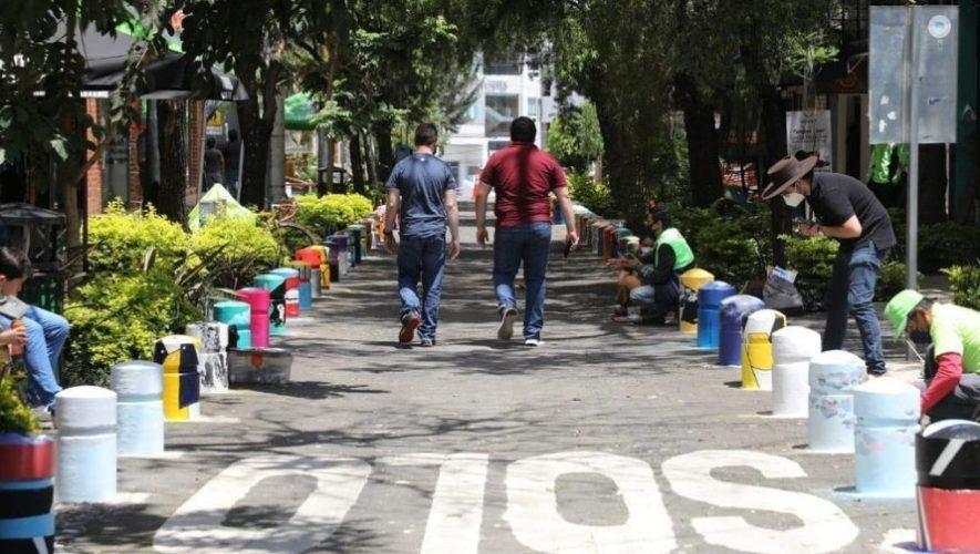 Artistas pintan las calles de 4 grados norte