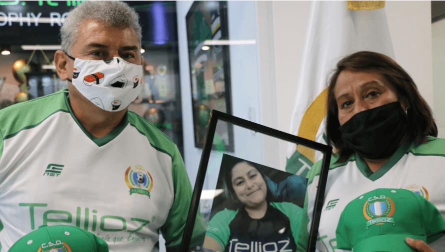 CSD Tellioz rindió homenaje a la hija de Fabio