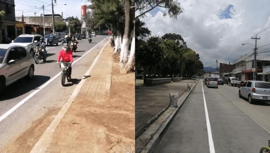 Carril Bici: Habilitan el ciclovía en el Paseo de los Campeones, en Mixco