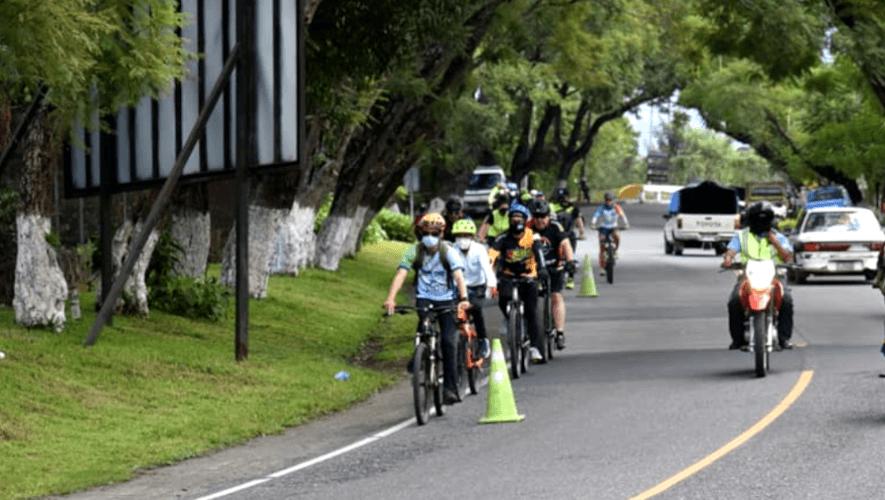 Ciclistas inauguraron Ciclovía Entre Valles en 4 municipios de Sacatepéquez