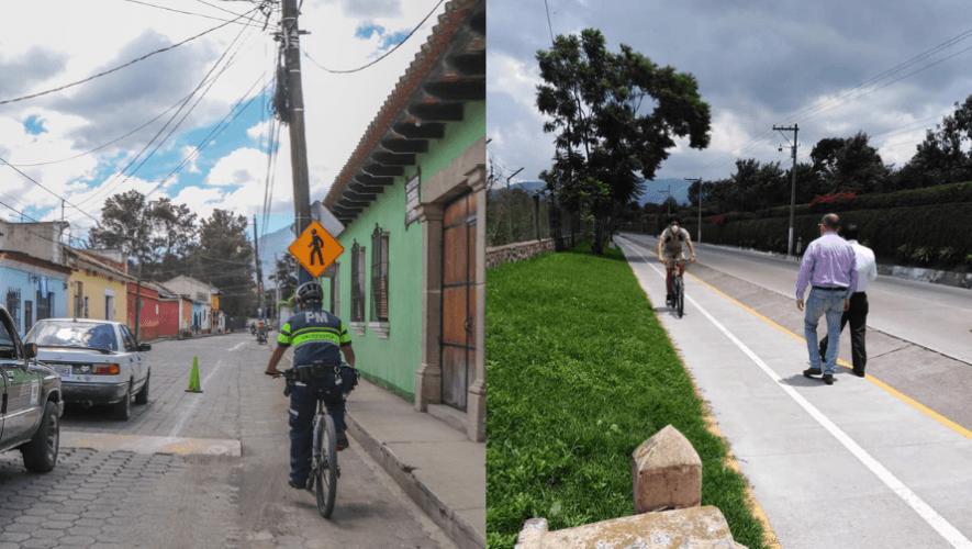 Comienza plan piloto del proyecto Ciclovías Entre Valles en municipios de Sacatepéquez