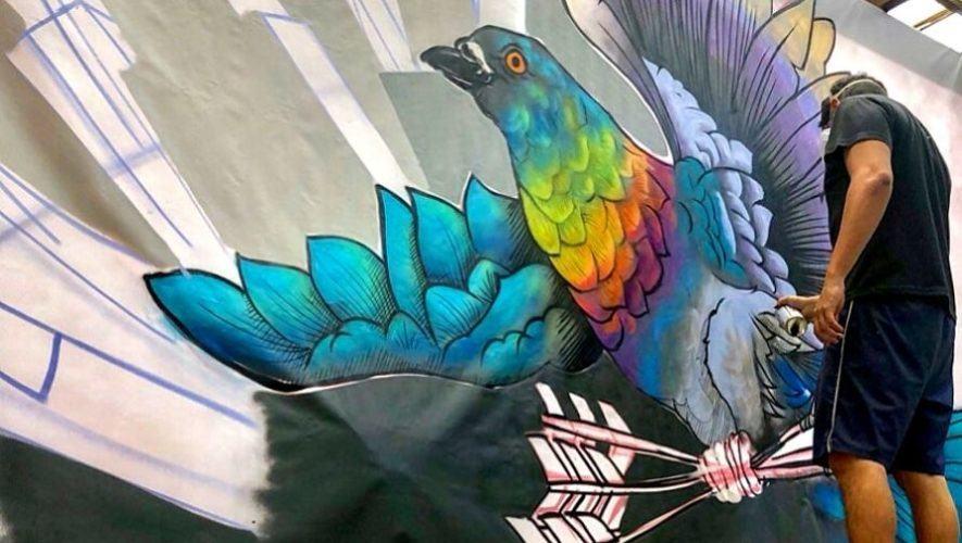 Elaboración de mural en vivo por artistas guatemaltecos | Septiembre 2020
