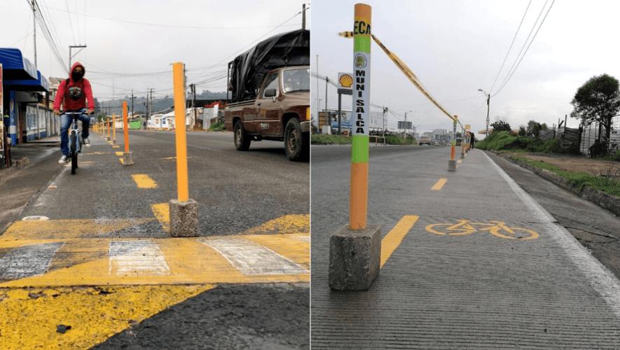 Habilitan el proyecto de Ciclovías Emergentes en Salcajá, Quetzaltenango