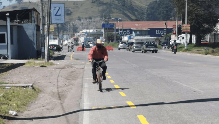 Implementan proyecto de Ciclovías Emergentes en municipios de Sacatepéquez y Quetzaltenango