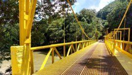 Termina la reconstrucción del puente hacia el Monumento Natural Semuc Champey en Guatemala