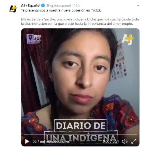 ajplus-espanol-destaco-barbara-sacche-joven-origen-maya-contenido-tik-tok-amor-propio