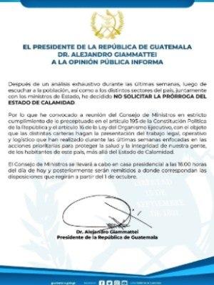finaliza-estado-calamidad-2020-guatemala-comunicado