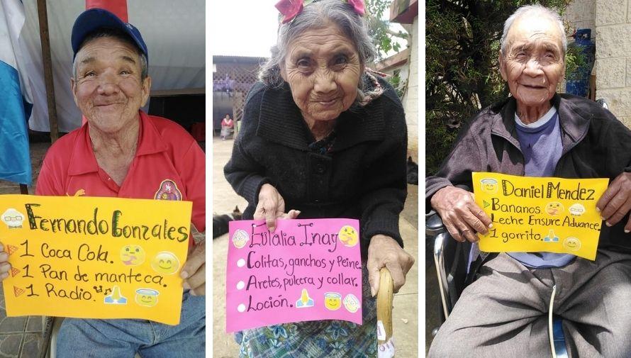 """""""Haz feliz a un abuelito"""", campaña que busca ayudar a abuelitos de San Juan Comalapa"""