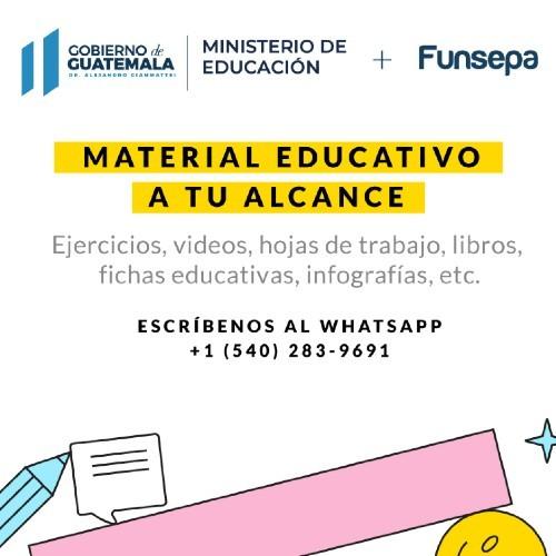 sos-docente-chat-robot-funsepa-ayudar-maestros-guatemaltecos-whatsapp-material-educativo-videos-infografias-educacion