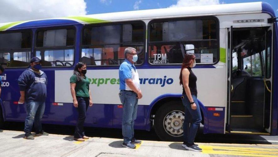 Anuncian horarios de servicio de TransExpress de Mixco hacia Roosevelt, Minerva y Naranjo