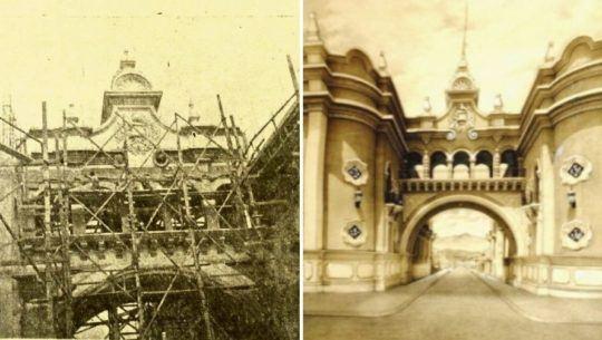 Fotografías antiguas del Arco de Correos y Telégrafos de Guatemala (P)