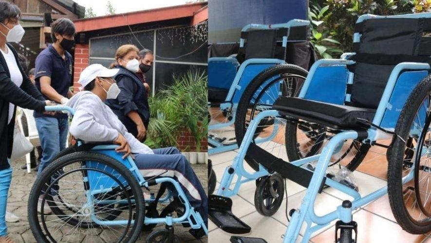 Guatemaltecos de la organización Hope Haven donaron sillas de ruedas a personas de la tercera edad