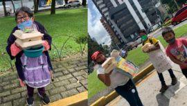 Voluntarios guatemaltecos de Cocinemos Guate donaron alimentos a personas de la calle