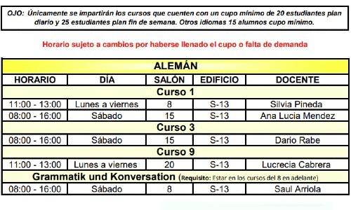calusac-ofrece-curso-vacaciones-intensivo-guatemaltecos-noviembre-2020-horarios-aleman