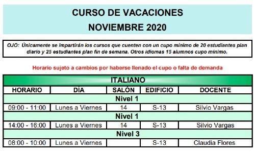 calusac-ofrece-curso-vacaciones-intensivo-guatemaltecos-noviembre-2020-horarios-italiano