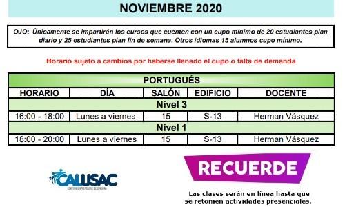 calusac-ofrece-curso-vacaciones-intensivo-guatemaltecos-noviembre-2020-horarios-portugues