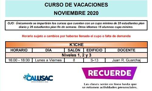 calusac-ofrece-curso-vacaciones-intensivo-guatemaltecos-noviembre-2020-kiche