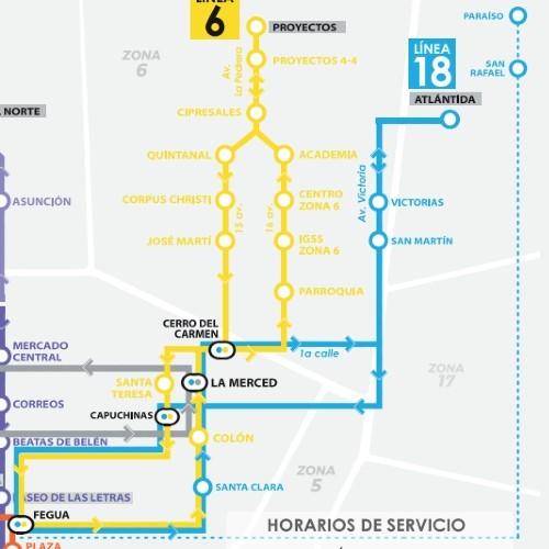 rutas-horarios--funcionan-lineas-transmetro-ciudad-guatemala-linea18