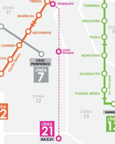 rutas-horarios--funcionan-lineas-transmetro-ciudad-guatemala-linea21