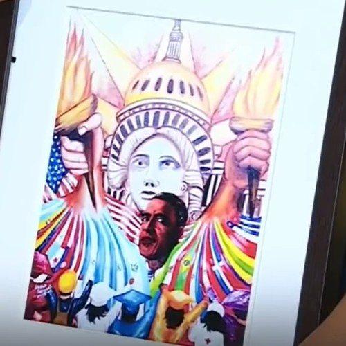 ubaldo-sanchez-destacado-telemundo-pinturas-expuestas-importantes-museos-obra-nuevo-amanecer-barack-obama