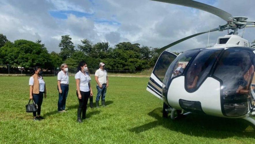 Aviones y helicópteros llevaron víveres a familias guatemaltecas por la depresión tropical ETA