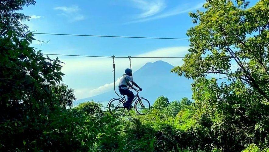 primer bici cable de Guatemala