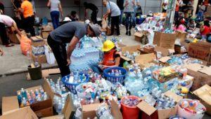 Centro de acopio en la Zona 1 de la Ciudad de Guatemala, Depresión tropical ETA | Noviembre 2020