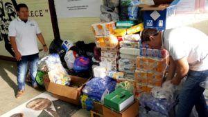 Colecta de víveres en el Paraninfo Universitario, depresión tropical ETA | Noviembre 2020