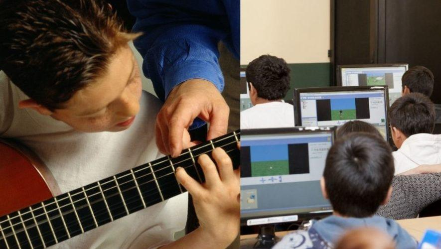Cursos presenciales para los guatemaltecos de música, computación y manualidades