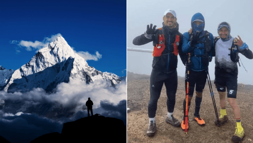 Everesting Guatemaltecos simularon el ascenso al Everest en el Volcán Acatenango