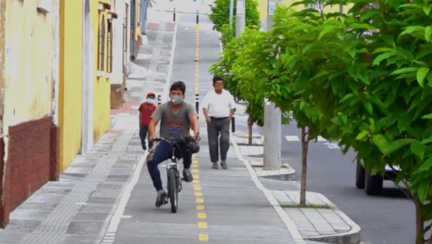 Habilitan nueva ciclovía en la Zona 8 de la Ciudad de Guatemala