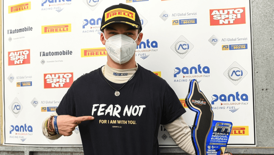 Ian Rodríguez subió a su primer podio de Fórmula 3 en el Campeonato Regional Europeo 2020