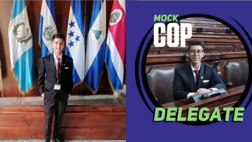José Villatoro representa a Guatemala en evento mundial sobre cambio climático Mock COP26