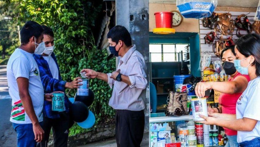 Jóvenes salieron a las calles a recolectar víveres para ayudar a familias guatemaltecas