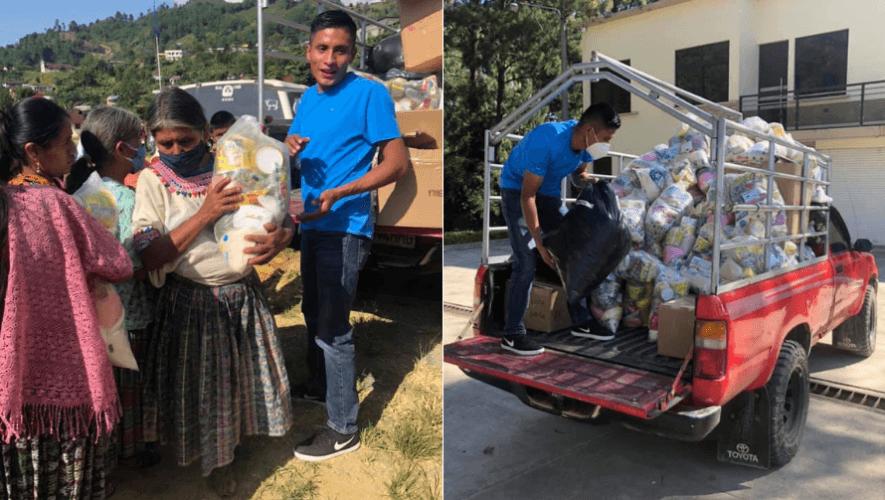 Mario Pacay donó víveres y ropa a familias de Alta Verapaz por la depresión tropical ETA
