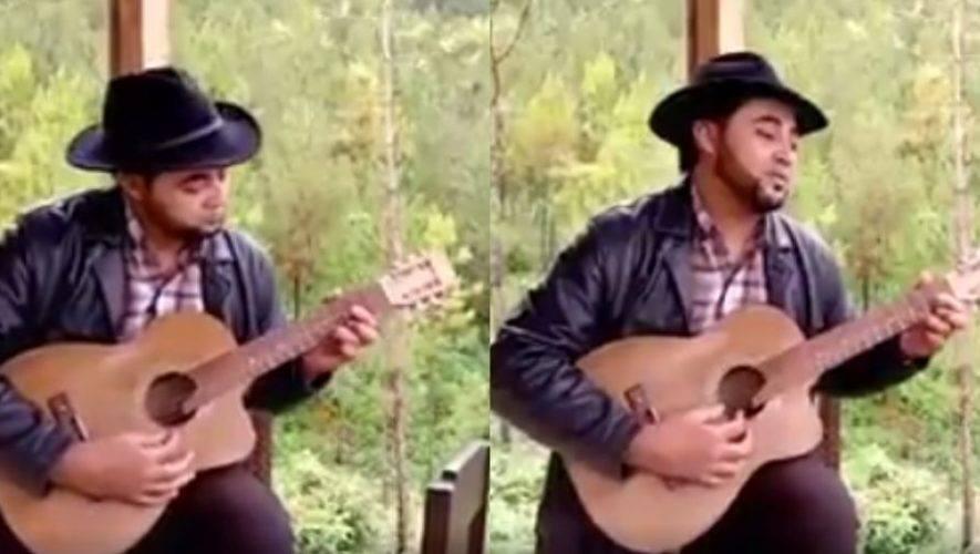 Originario de Santa Rosa compuso canción para dar ánimo a los guatemaltecos