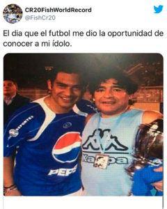 Palabras de despedida del pescado Ruiz a Maradona - Foto Guatemala . com