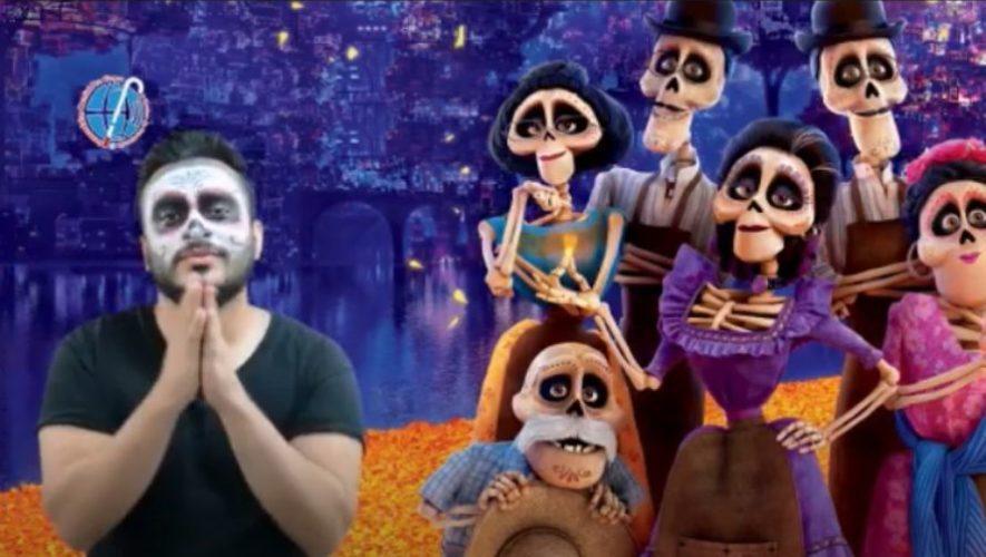 Profesor guatemalteco Pedro Aguilar interpretó la canción Recuérdame en lengua de señas