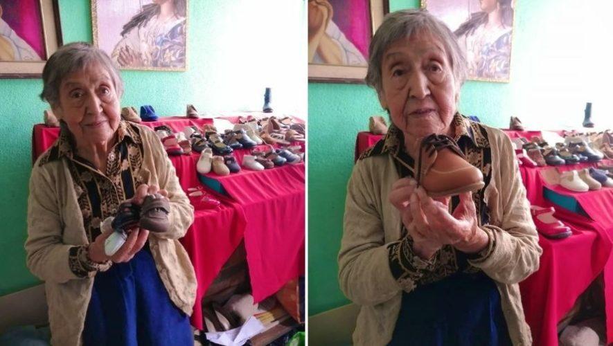 Sara Ramírez, la abuelita de Zona 5 que diseña y vende zapatos para salir adelante (2)