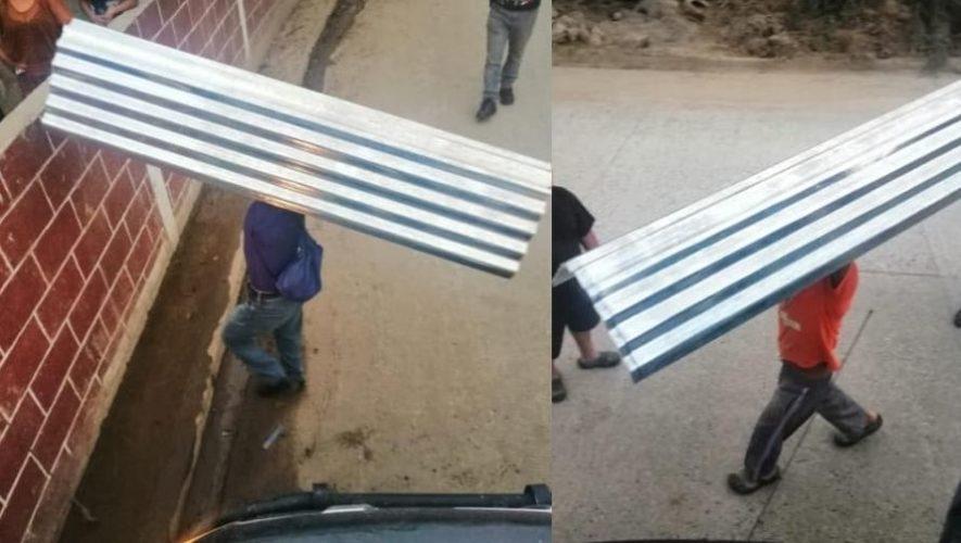 Sé Feliz Guatemala donó láminas a familias de Cobán para reconstruir los techos de sus casas