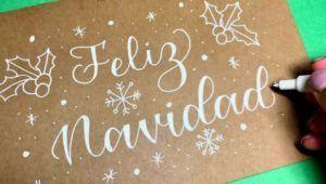 Taller gratuito de lettering, especial navideño   Noviembre 2020