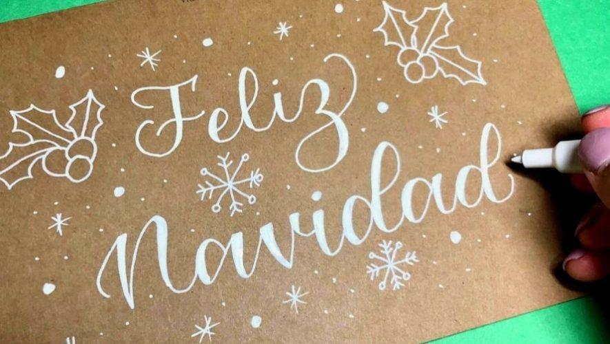 Taller gratuito de lettering, especial navideño | Noviembre 2020