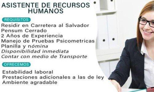 empleo-2020-empresas-ofrecen-trabajo-permanente-guatemala-bullocks-recursos-humanos-asistente