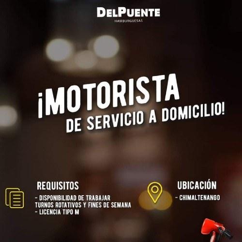 empleo-2020-empresas-ofrecen-trabajo-permanente-guatemala-motoristas-domicilio-hamburguesas-del-puente