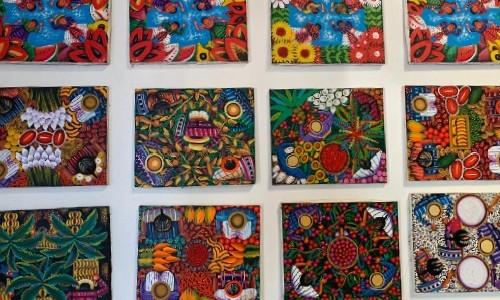 joselyn-cholotio-artista-hace-impresionantes-pinturas-san-juan-la-laguna-tecnica-vista-aguila