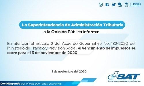ultimo-dia-pagar-impuesto-circulacion-sat-guatemala-descanso-acuerdo-gubernativo-182-2020