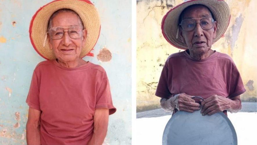 Don Héctor, el abuelito emprendedor que vende comales en Quetzaltenango
