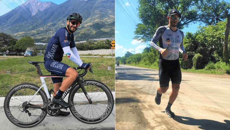 Edgar Córdova busca completar distancia Ironman en Guatemala para ayudar a los damnificados