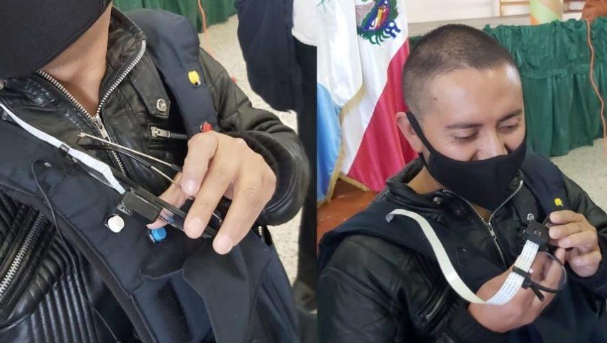 Estudiantes de ingeniería de Quetzaltenango crearon dispositivo para personas con ceguera